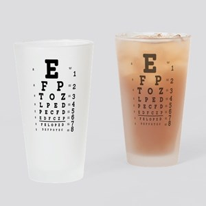 Eye Chart bold Drinking Glass