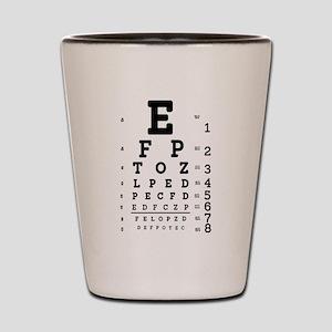 Eye Chart bold Shot Glass