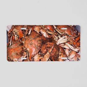 Crab Feast Aluminum License Plate