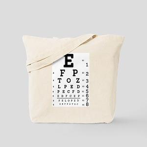 Eye Chart bold Tote Bag