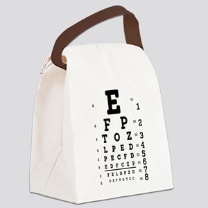 Eye Chart bold Canvas Lunch Bag