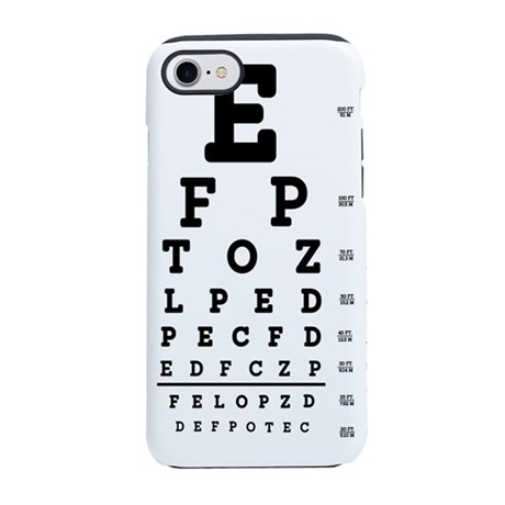 Eye Chart Bold Iphone 87 Tough Case By 1stopshoppingts