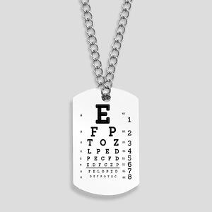 Eye Chart bold Dog Tags