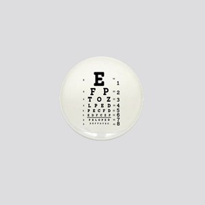 Eye Chart bold Mini Button