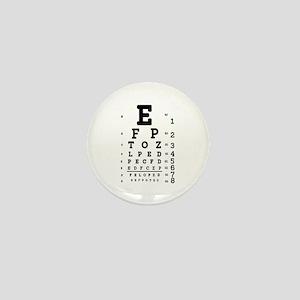 Eye Chart bold Mini Button