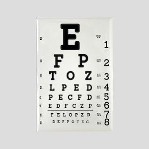 Eye Chart bold Rectangle Magnet