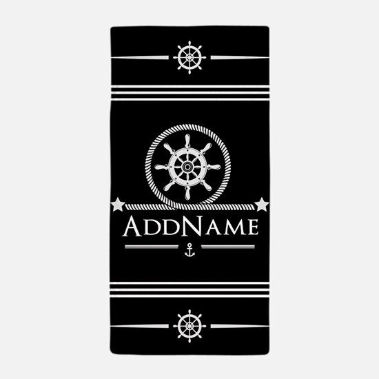 Upload Your Own Color Nautical Theme Beach Towel