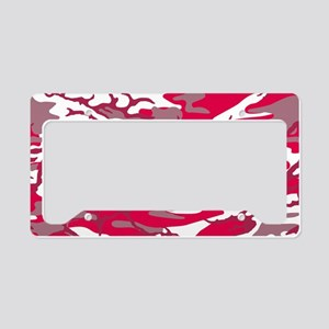 Bright Red Camo License Plate Holder