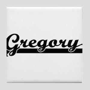 Gregory surname classic retro design Tile Coaster