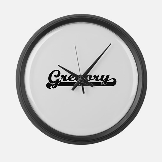 Gregory surname classic retro des Large Wall Clock