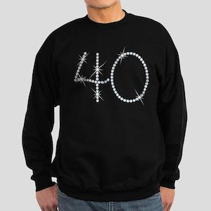 Faux Rhinestone 40th Birthday Sweatshirt (dark)