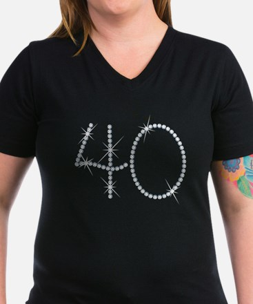 Faux Rhinestone 40th B Shirt