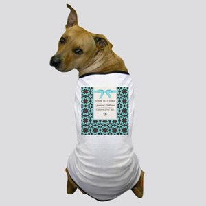 Brown and Blue Ribbon Personalized Dog T-Shirt