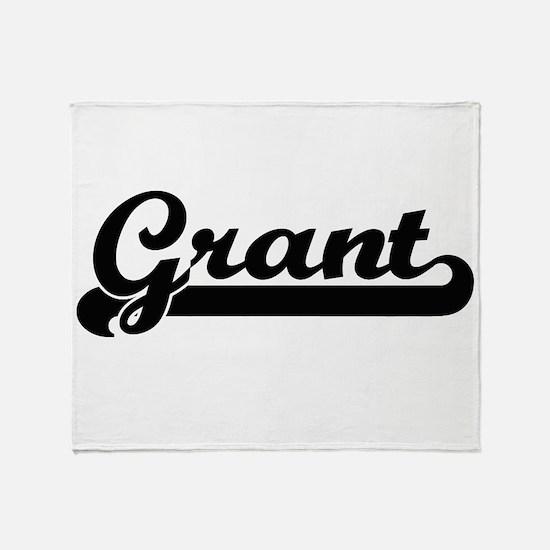 Grant surname classic retro design Throw Blanket
