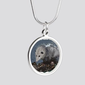 Opossum on a Gnarley Branch Necklaces