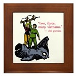 Che Guevara Quote Framed Tile