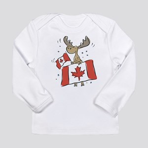 Canada Day Moose Long Sleeve T-Shirt
