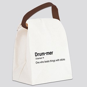 Drummer Definition Canvas Lunch Bag