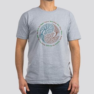 Yin Yang Tree Men's Fitted T-Shirt (dark)
