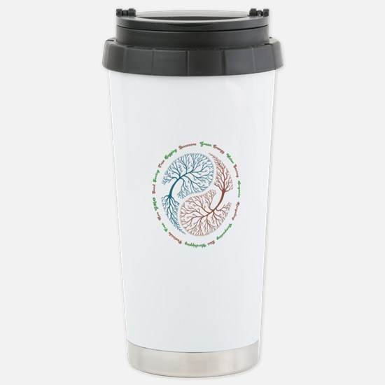 Yin Yang Tree Stainless Steel Travel Mug