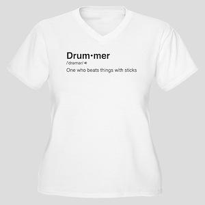 Drummer Definitio Women's Plus Size V-Neck T-Shirt