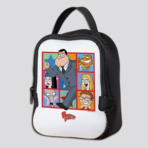 American Dad Frames Neoprene Lunch Bag