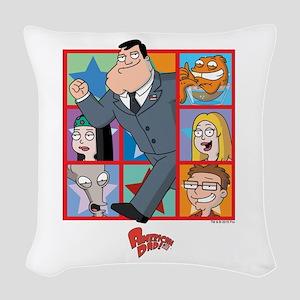 American Dad Frames Woven Throw Pillow