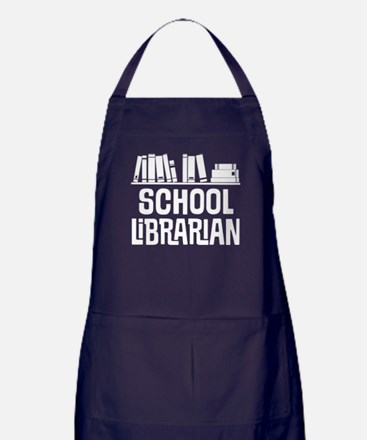 School Librarian Apron (dark)