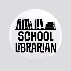 School Librarian Button