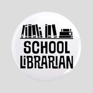 School Librarian Button
