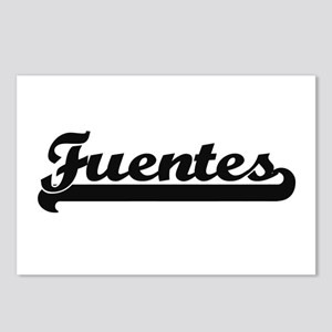 Fuentes surname classic r Postcards (Package of 8)