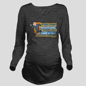 American Dad Look Sh Long Sleeve Maternity T-Shirt