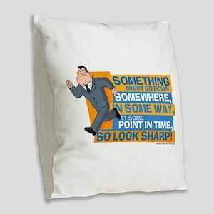 American Dad Look Sharp Burlap Throw Pillow