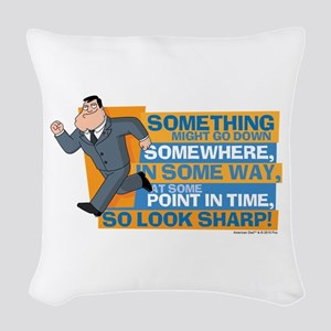 American Dad Look Sharp Woven Throw Pillow