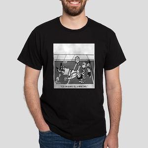 Crossing Guard Cartoon 2163 Dark T-Shirt