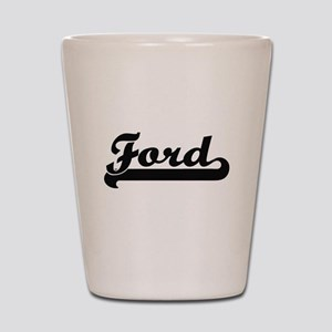 Ford surname classic retro design Shot Glass