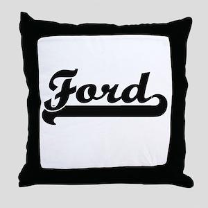 Ford surname classic retro design Throw Pillow