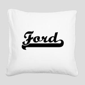 Ford surname classic retro de Square Canvas Pillow