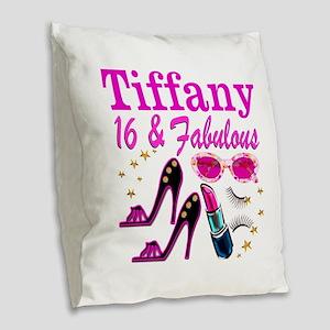16 AND FABULOUS Burlap Throw Pillow