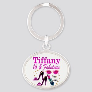 16 AND FABULOUS Oval Keychain