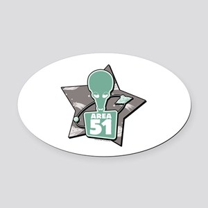 American Dad Area 51 Oval Car Magnet