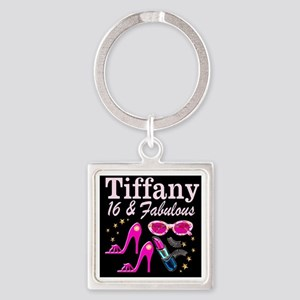 SNAZZY 16TH DIVA Square Keychain