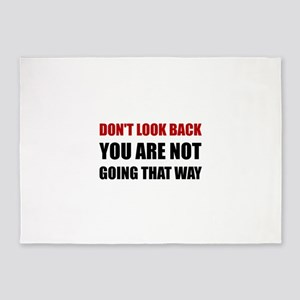 Do Not Look Back 5'x7'Area Rug