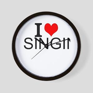 I Love Singing Wall Clock