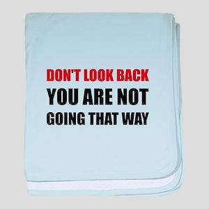 Do Not Look Back baby blanket