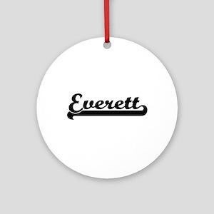 Everett surname classic retro des Ornament (Round)