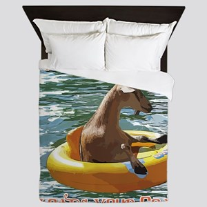 What Ever Floats your Goat Queen Duvet