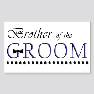 Brother of the Groom Rectangle Sticker