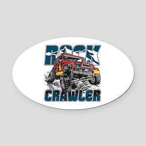 Rock Crawler 4x4 Oval Car Magnet