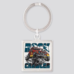 Rock Crawler 4x4 Square Keychain